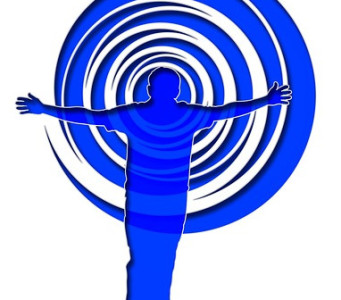 person in front of spiral